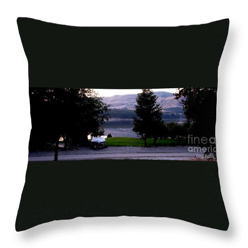 Art For The Wall...patzer Photography Throw Pillow featuring the photograph View To Columbia by Greg Patzer