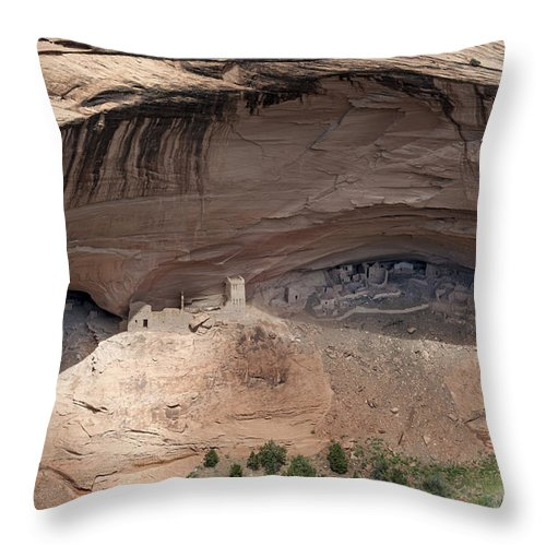 Arizona Throw Pillow featuring the photograph View To Mummy Cave by Sandra Bronstein