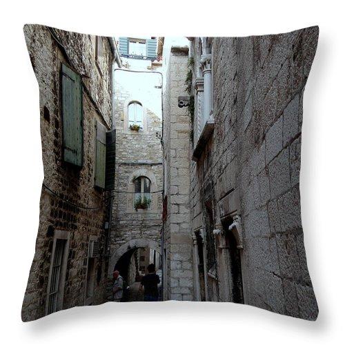 Split Croatia Throw Pillow featuring the photograph Views From Split Croatia by Richard Rosenshein