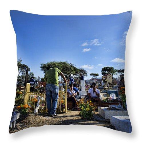 Crib Throw Pillow featuring the photograph Vigil by Hugh Smith