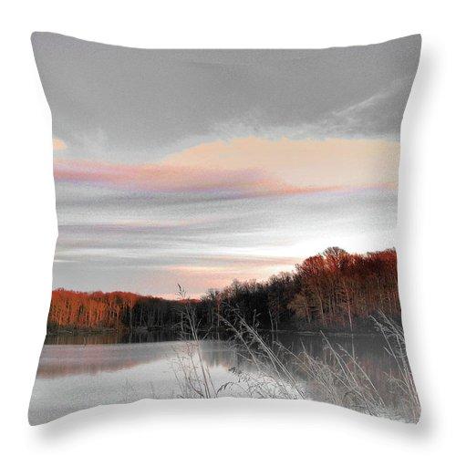 Village Creek State Park Throw Pillow featuring the digital art Village Creek Ar Morning by Lizi Beard-Ward