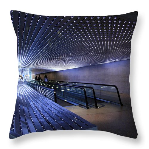 Multiuniverse Throw Pillow featuring the photograph Villareal's Blue Multiuniverse by Cora Wandel