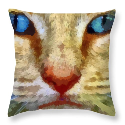 Cat Throw Pillow featuring the photograph Vincent by Michelle Calkins