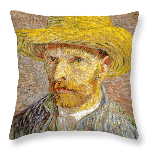 Van Gogh Throw Pillow featuring the photograph Vincent Van Gogh Quotes 6 by Andrew Fare