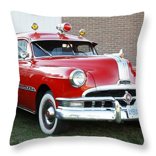 Vintage Ambulance Throw Pillow for Sale by Inspired Nature