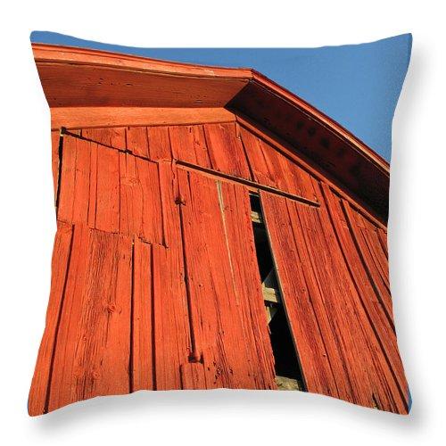 Barn Throw Pillow featuring the photograph Vintage Barn Aglow by Ann Horn
