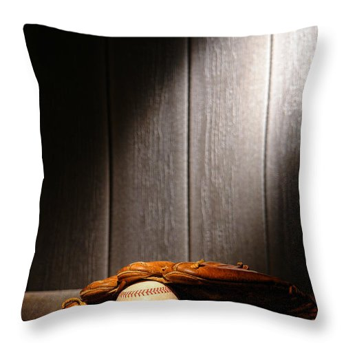 Baseball Throw Pillow featuring the photograph Vintage Baseball by Olivier Le Queinec