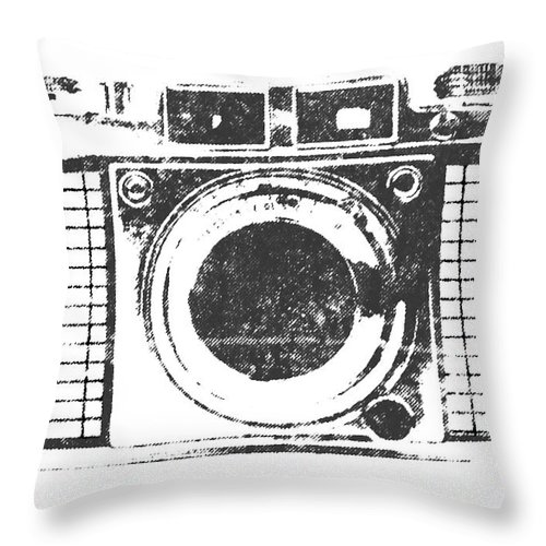 Camera Throw Pillow featuring the photograph Vintage Camera by Martin Newman