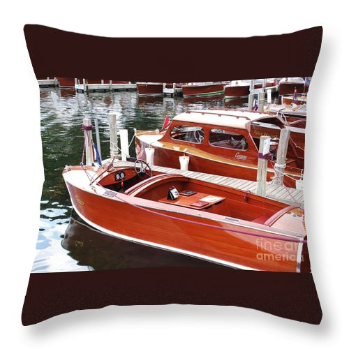 Boat Throw Pillow featuring the photograph Vintage Century by Neil Zimmerman