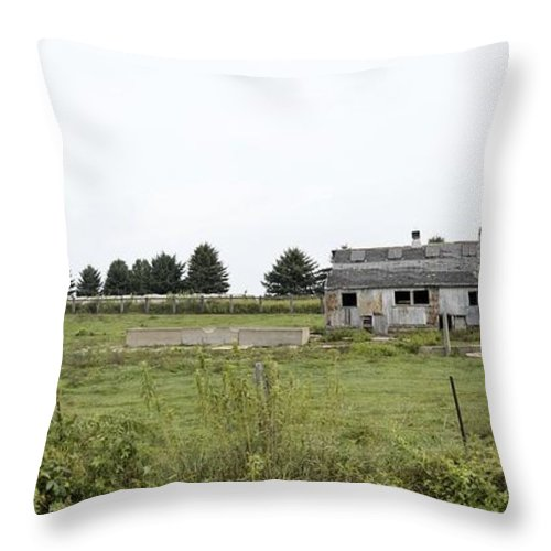 Farm Throw Pillow featuring the photograph Vintage Farm by Bonfire Photography