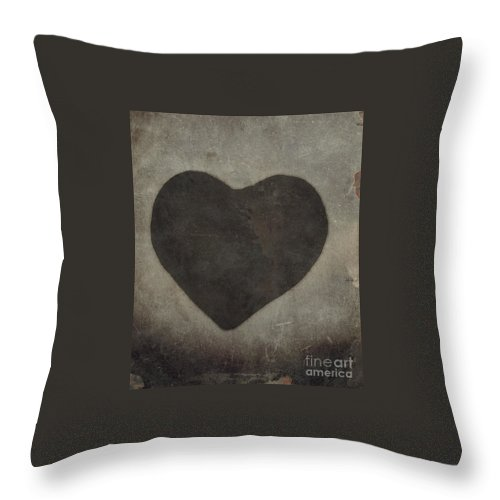 Heart Throw Pillow featuring the photograph Vintage Heart by Kim Henderson