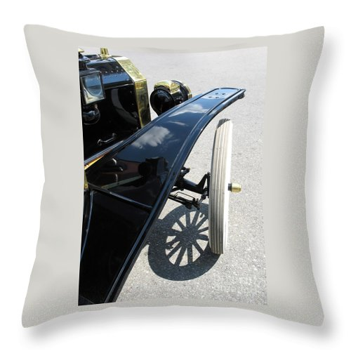 Model T Throw Pillow featuring the photograph Vintage Model T by Ann Horn