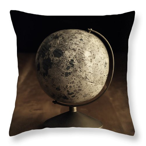 Vintage Throw Pillow featuring the photograph Vintage Moon Globe by Edward Fielding