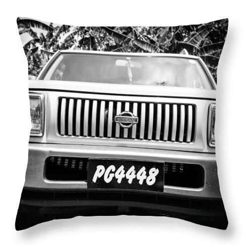 Saint Lucia Throw Pillow featuring the photograph Vintage Nissan by Ferry Zievinger