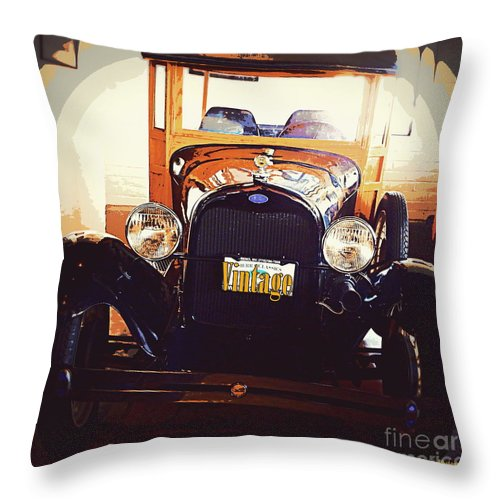 Acrylic Prints Throw Pillow featuring the photograph Vintage Ride by Bobbee Rickard