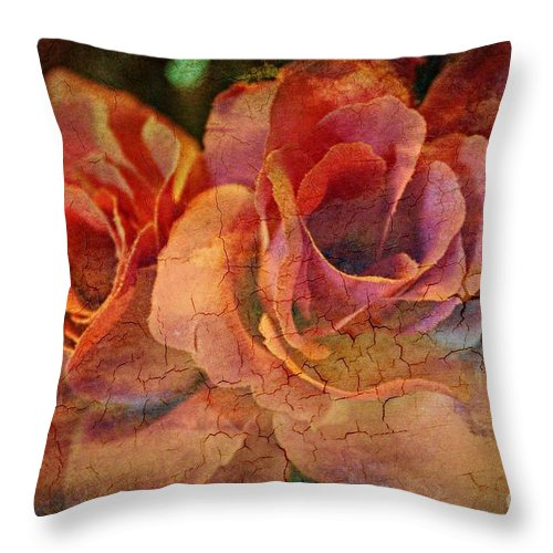 Rose Throw Pillow featuring the photograph Vintage Roses by Judy Palkimas