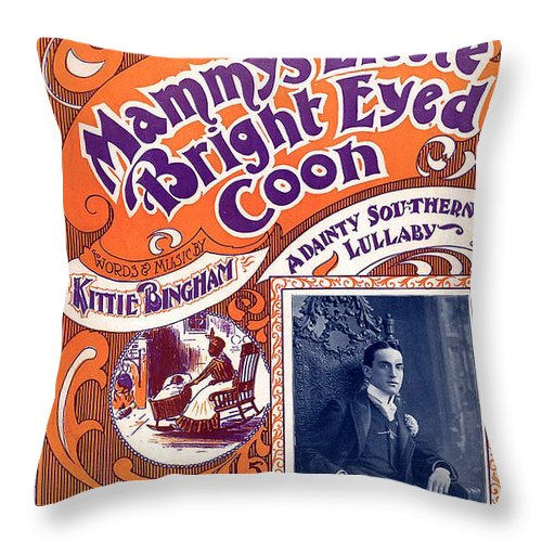 Vintage Sheet Music Cover Throw Pillow featuring the digital art Vintage Sheet Music Cover by Studio Artist
