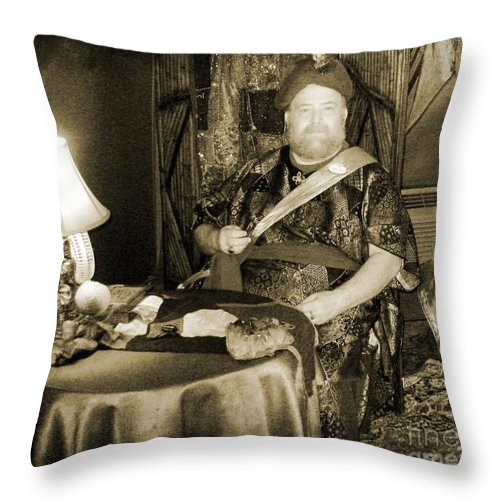 Vintage Swami Throw Pillow featuring the photograph Vintage Swami by John Malone