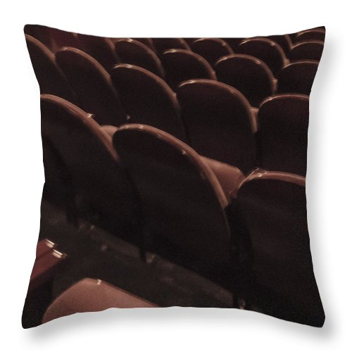 Chairs Throw Pillow featuring the photograph Vintage Theater by Margie Hurwich