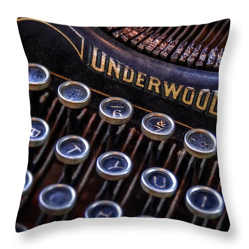 Retro Throw Pillow featuring the photograph Vintage Typewriter 2 by Scott Norris