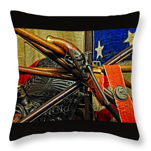 Gun Throw Pillow featuring the photograph Vintage  U S  Army by Mike Martin