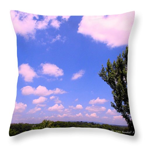 Clouds Throw Pillow featuring the photograph Violet Edge by Kendall Kessler