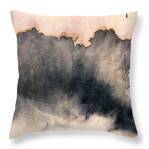 Violet In The Sky Throw Pillow featuring the painting Violet In The Sky #2 by Janet Gunderson