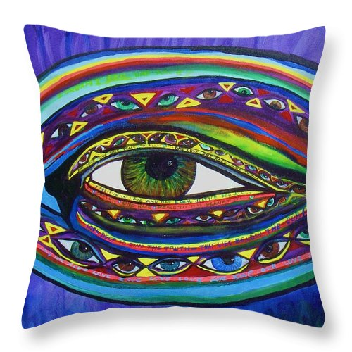 Vision Throw Pillow featuring the painting Vision by J Andrel