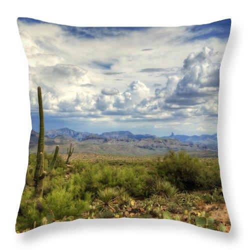 Arizona Throw Pillow featuring the photograph Visions Of Arizona by Saija Lehtonen