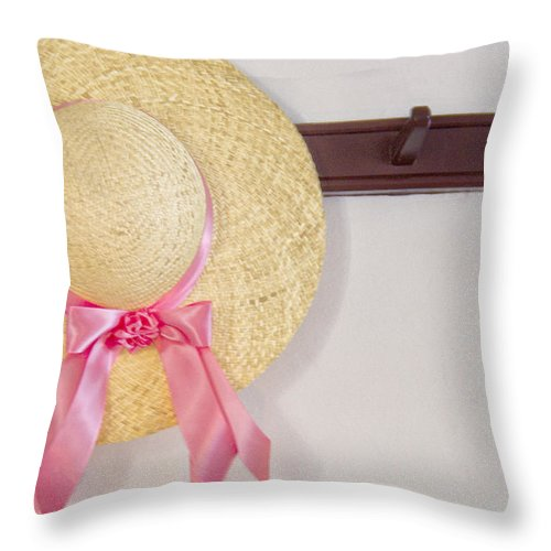 Wall Throw Pillow featuring the photograph Visiting by Margie Hurwich