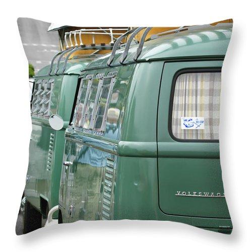 Volkswagen Vw Bus Throw Pillow featuring the photograph Volkswagen Vw Bus by Jill Reger