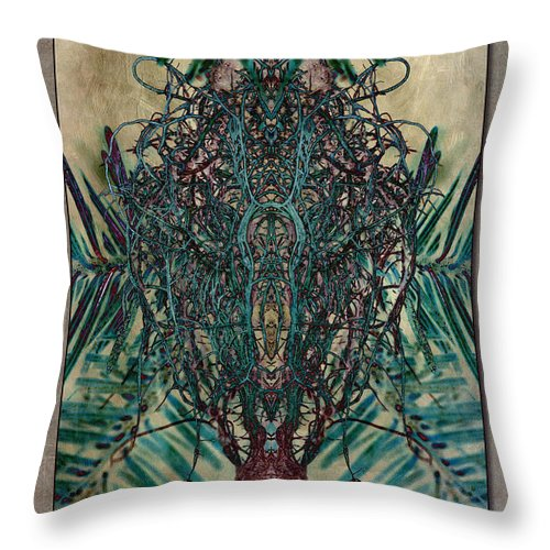 Moss Throw Pillow featuring the photograph Voodoo Moss by WB Johnston