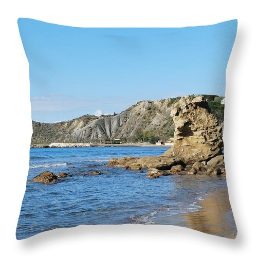 Vouno Throw Pillow featuring the photograph Vouno 2 by George Katechis