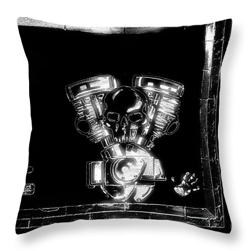 Newel Hunter Throw Pillow featuring the photograph Vroomvroom by Newel Hunter