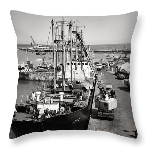 Hart Photography Throw Pillow featuring the photograph Vw Beetle, Ramsgate - 1960's  Ref-506 by William R Hart