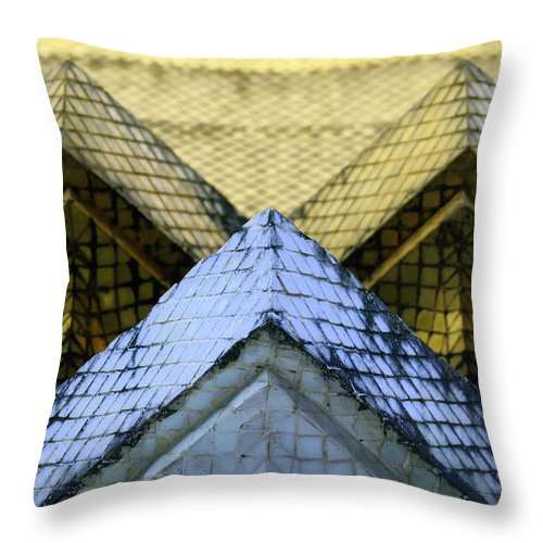 Thailand Throw Pillow featuring the photograph W by A Rey