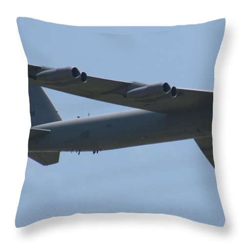 Air Throw Pillow featuring the photograph Wafb 09 B52 Stratofortress by David Dunham