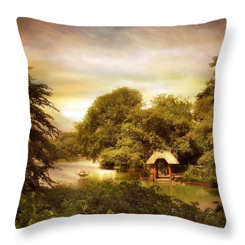 Central Park Throw Pillow featuring the photograph Wagner Cove by Jessica Jenney