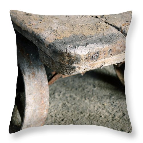 Rust Belt Throw Pillow featuring the photograph Wagon by John Carocci