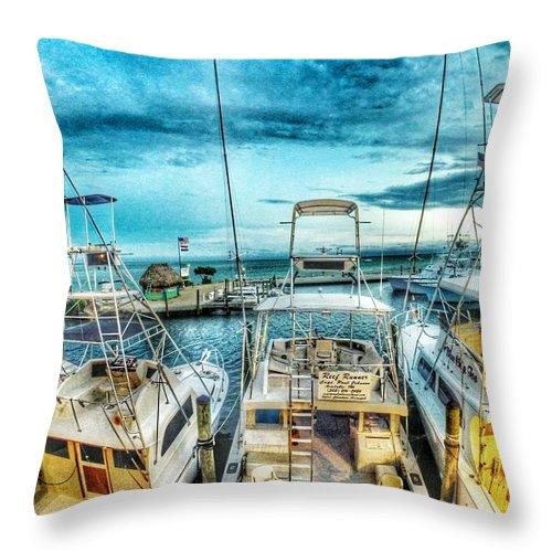 Florida Keys Throw Pillow featuring the photograph Wahoo's by Erik Kaplan