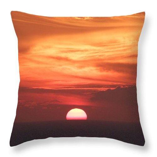 Mary Deal Throw Pillow featuring the photograph Waikiki Sunset No 2 by Mary Deal
