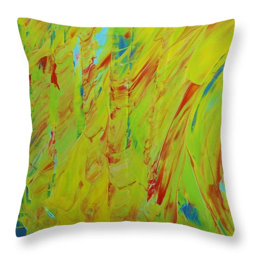 Original Throw Pillow featuring the painting Wailing by Artist Ai