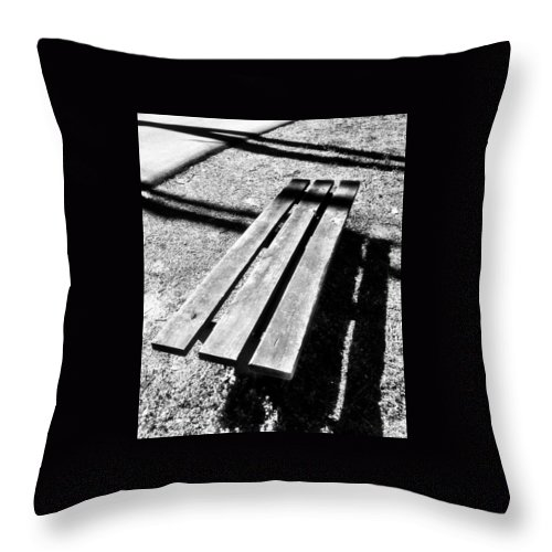 Park Throw Pillow featuring the photograph Waiting 2 by Michele Monk
