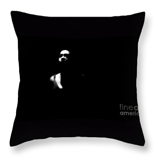 Black Throw Pillow featuring the photograph Waiting For Happy by Jessica Shelton