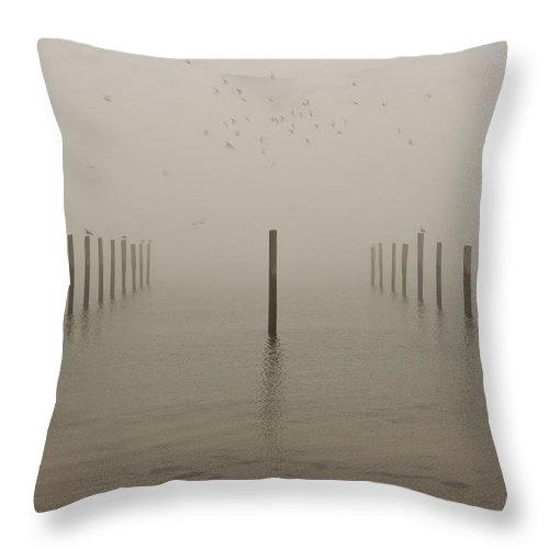 Boats Throw Pillow featuring the photograph Waiting For The Boats by Dennis Coates