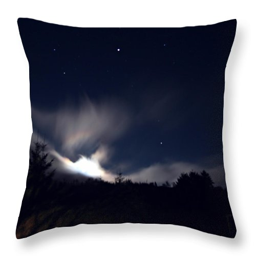 Oregon Throw Pillow featuring the photograph Waiting For The Moon by Katie Wing Vigil