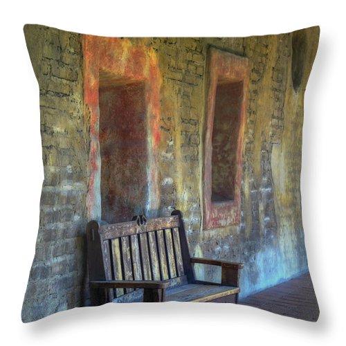 Joan Carroll Throw Pillow featuring the photograph Waiting by Joan Carroll