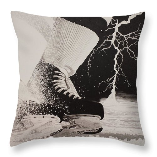 Painting Throw Pillow featuring the painting Waiting on the thunder by Scott Robinson