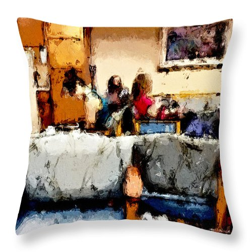 Room Throw Pillow featuring the painting Waiting by Robert Smith