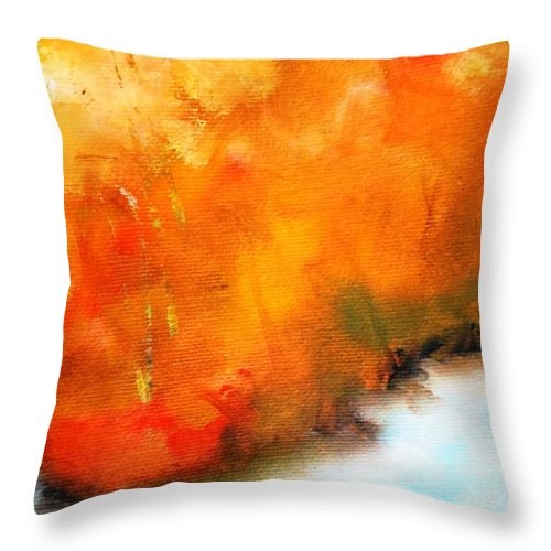 Paintings By Lyle Throw Pillow featuring the painting Wake Forest by Lord Frederick Lyle Morris - Disabled Veteran